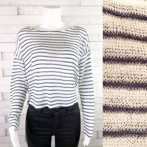 🌸Divided Long Sleeve Open Knit Top Large